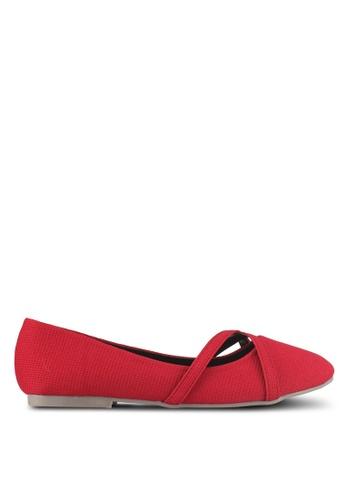Alfio Raldo red Round Tip Ballerina Flats 20FBCSHE31C272GS_1