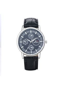 WH0037A Top Grade Three eyes Quartz Business Man Watch Stainless Steel Metal Round Dial