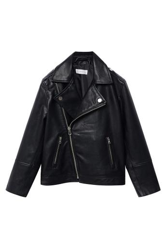 MANGO KIDS black Faux-Leather Jacket AD1A4KA25D3C0BGS_1