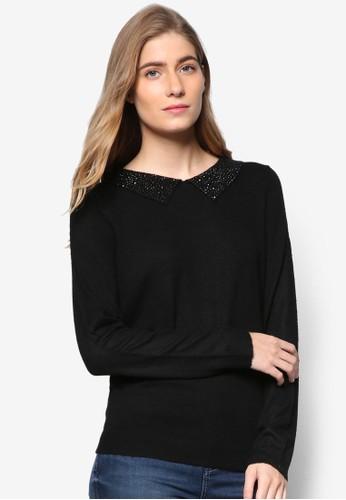 亮片衣領長袖衫, 服zalora taiwan 時尚購物網飾, 外套
