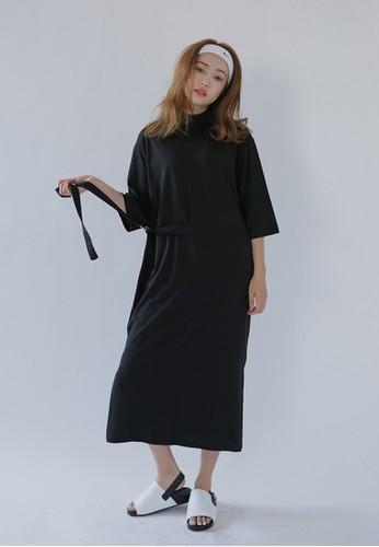 腰帶esprit outlet 高雄寬版高領連身裙, 服飾, 洋裝