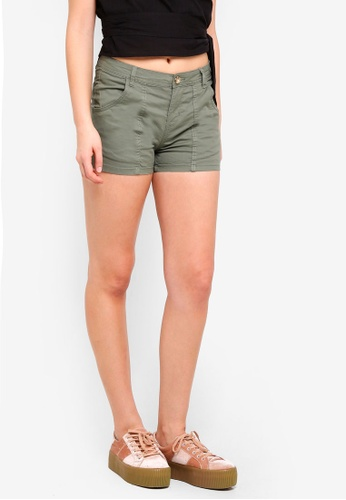Cotton On green Panel Pocket Chino Shorts CD763AAB7C4C89GS_1