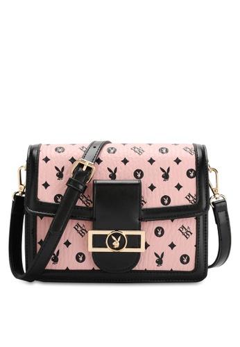 PLAYBOY BUNNY pink Women's Sling Bag / Shoulder Bag / Crossbody Bag 73A5EACD2B567EGS_1