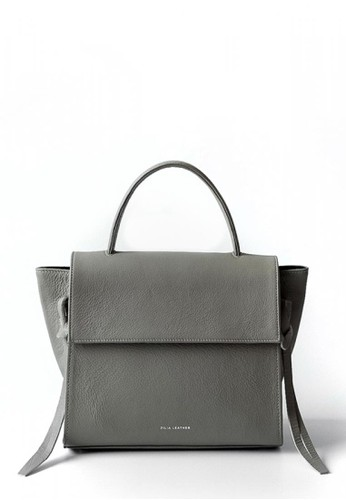 ZILIA LEATHER grey Herzl Hand Bag Grey 915B9ACF5F5E6AGS_1