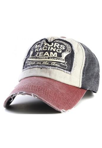 Hamlin red Rhodey Maxton Casual Hat Baseball Pria Snapback Motors Racing Team Material Cotton ORIGINAL 6F113AC015B24EGS_1