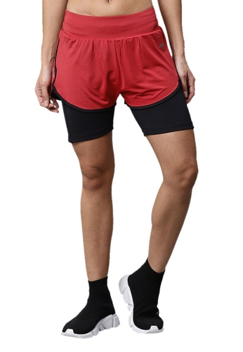 ALCIS red Alcis High Impact Maroon Support Shorts EAD09AA2F6F974GS_1