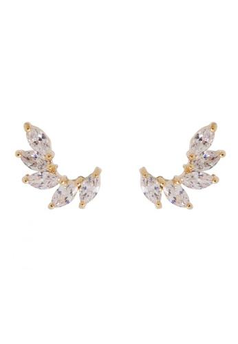 Jaysa Collection yellow Angel's Wings Class AAA Zirconia Earrings JA875AC0GH74SG_1