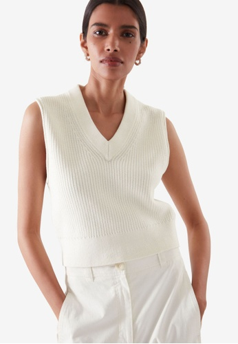 COS white Knitted Vest 221AFAAB19E1AAGS_1
