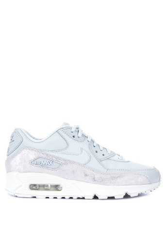 Nike grey Womens Nike Air Max 90 Premium Shoes 88FA9SH8DEC488GS1