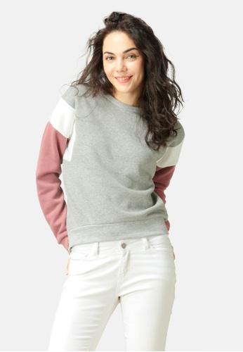 London Rag grey Color Block Sweatshirt 26F90AAB0D7D39GS_1