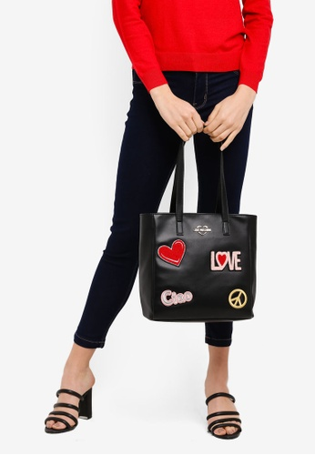 Buy Love Moschino Tote Bag With Decorative Patches Online on ZALORA  Singapore 32f06670d8