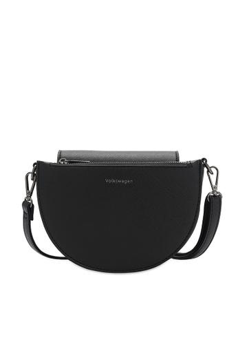 Volkswagen black Faux Leather Sling Bag 6EE42ACFF64CFFGS_1