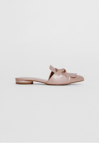 Love Bonito pink Leanre Knotted Slip-on Loafers D83D4SH6D474D8GS_1