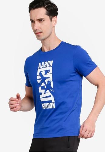 361° blue Basketball Series Short Sleeve T-shirt 335B4AA84FA214GS_1