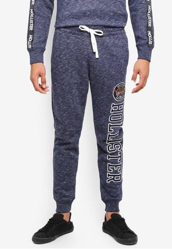 Hollister 海軍藍色 休閒Logo修身棉褲 BF06EAAC68DB6EGS_1