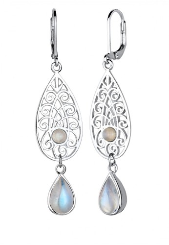Elli Germany white Perhiasan Wanita Perak Asli - Silver Anting Ornament Moonstone Putih Putih A1343AC2D343DDGS_1