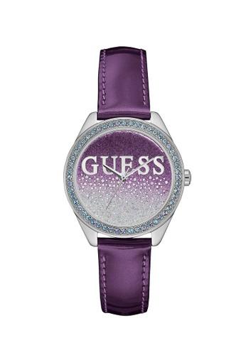 Guess Watch purple Guess Jam Tangan Wanita - Purple Silver - Leather Strap - W0823L4 4BC85ACE100B18GS_1