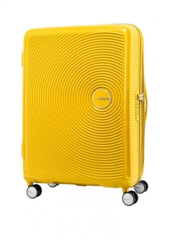 American Tourister yellow Curio Spinner 80/30 Exp TSA 9A486ACE0724E8GS_1