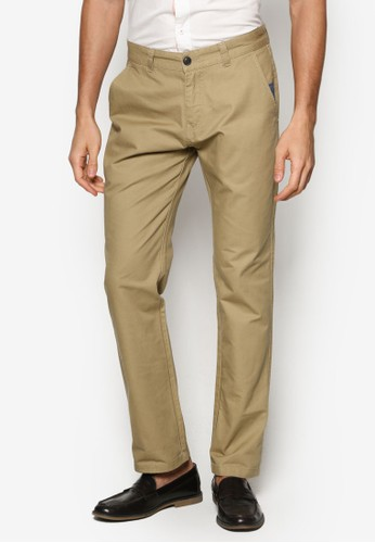 簡約棉質長褲,esprit 請人 服飾, 直筒褲
