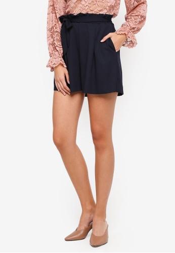 ONLY navy Jenna High Waist Shorts BE741AAD65449BGS_1