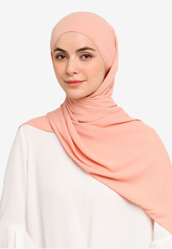 UMMA pink Nawar Basic Scarf in Starfish 163FCAABB49E58GS_1