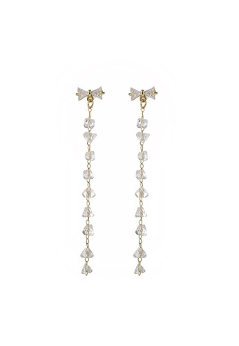 Atrireal gold ATRIREAL - Infinity Ribbon Linear Drop Earring 47807AC9696AD4GS_1