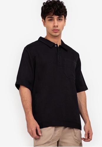 ZALORA BASICS black Polo Short Sleeve Shirt E163CAA2A4829CGS_1
