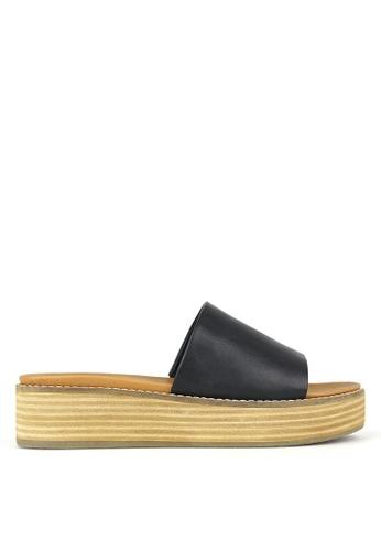 Betts black Revolve Slip On Wedge Sandals 75990SHB6E0581GS_1