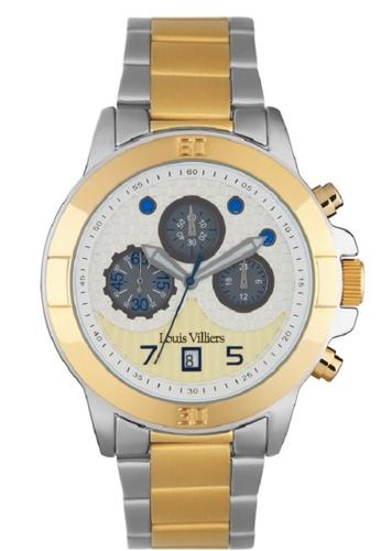 Louis Villiers multi Louis Villiers LVP1903 Men's Rose Gold Stainless Steel Bracelet Watch 77468AC57C3B5CGS_1