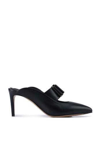 Ferragamo black Double Bow Mule Pump Heels  (zt) 65C97SH579C6D7GS_1