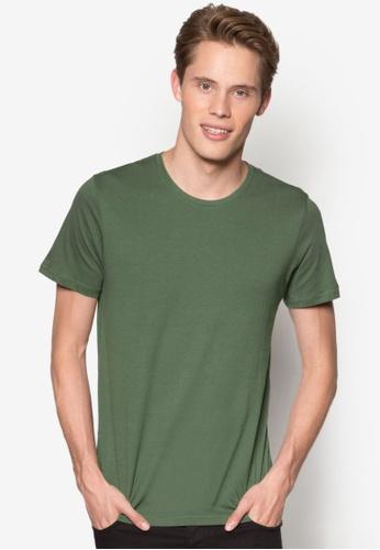 Burton Menswear London green Khaki Crew Neck T-Shirt BU964AA25YMKMY_1