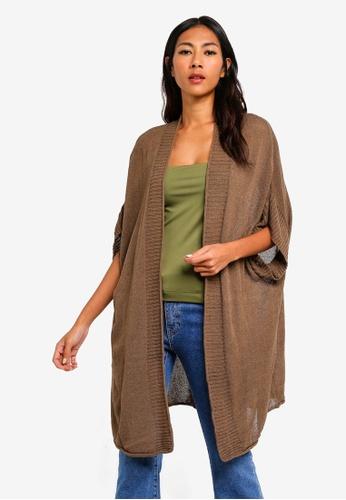 Cotton On brown Longline Kimono 8D285AA54511FCGS_1