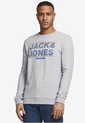 JACK & JONES grey Mount Logo Sweatshirt 4F7C5AA1767D2CGS_1