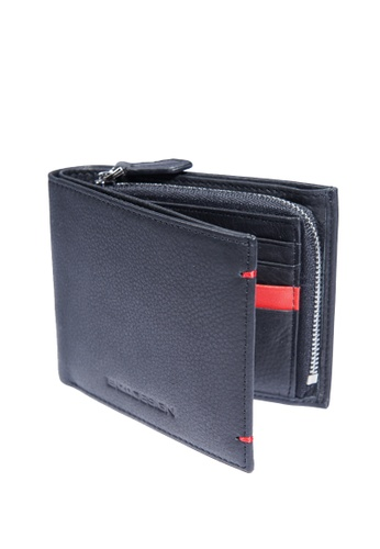ENZODESIGN black and red New Design Soft Cow Leather Wallet with Zip Coin Compartment EN115AC67ZTSPH_1