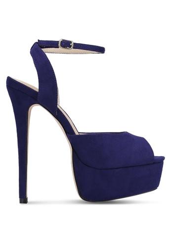 Something Borrowed blue Peep Toe Platform Heels AB5E6ZZ2A825B5GS_1