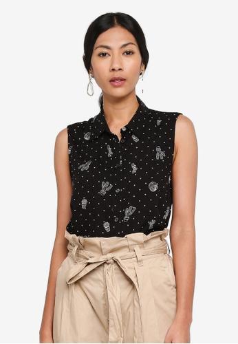 OVS multi Sleeveless Shirt With Print 5ACE2AA57CB916GS_1