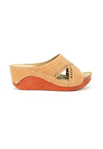 Mario D' boro Runway brown LS 95950 Tan Wedge Sandals F4CC2SHE8734ADGS_1