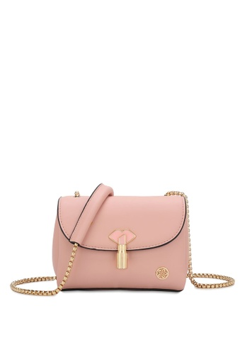 Wild Channel pink Ladies Chain Sling Bag DC8B1AC5222140GS_1