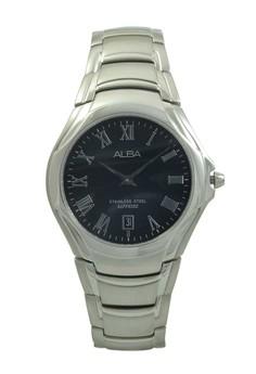 Image of ALBA Jam Tangan Pria - Silver Black - Stainless Steel - AVKE13