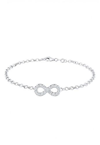 Elli Germany silver 925 Sterling Silver Gelang Infinity Swarovski® Crystals Silver EL948AC68UNRID_1