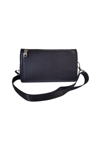EXTREME black Extreme Genuine Leather Sling Cluch Bag 8F005AC7208385GS_1