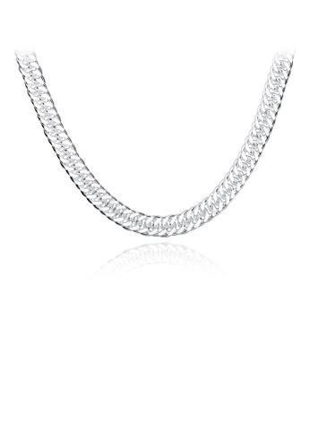 Glamorousky silver Fashion Necklace For Men 5EBC4AC2FB9644GS_1