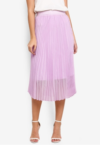 bYSI purple Pleated Mesh Skirt 2642FAA8991F4FGS_1