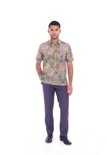 TUSCA green Eusoff Classic Batik Shirt F9F3FAAB0D0D86GS_1