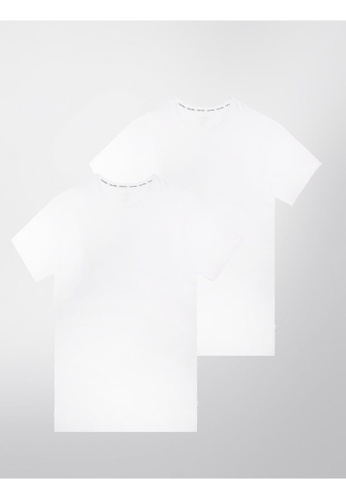 80cba266705339 Calvin Klein white Calvin Klein Modern Cotton Stretch Short Sleeves Crew  Neck Tee - 2 Pack