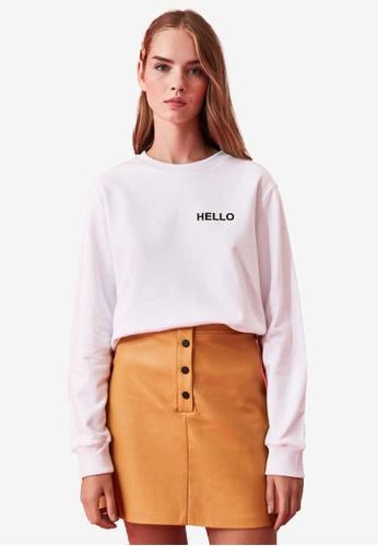 Trendyol white Daffy Duck Print Sweatshirt 44923AAC8E74BCGS_1