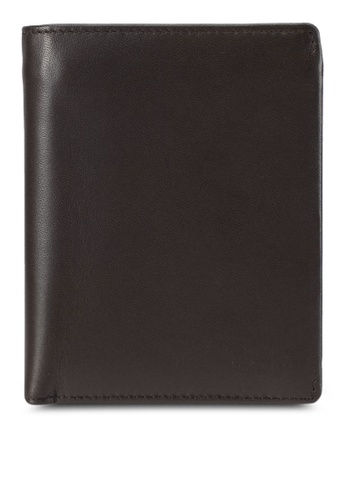 ZALORA brown Smooth Faux Leather Wallet 4B8BAZZ4A28F91GS_1
