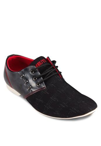 異材質esprit台灣outlet撞色正式感休閒鞋, 鞋, 鞋