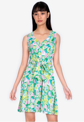 ZALORA BASICS multi Button Front Fit & Flare Dress A0016AAC22AE2CGS_1