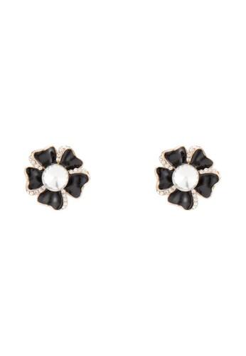 Plumeria 閃鑽花飾耳釘, esprit home 台灣飾品配件, 耳釘